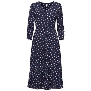 Gap button front navy floral midi dress size small
